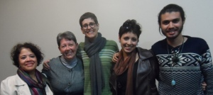 Christina Elói, Klaudia Alvarez, Jordana Colla, Mariana Porto e Erick Figueredo