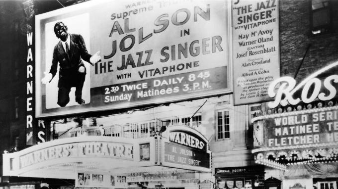 O cantor de jazz, foto Warner Bros